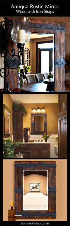 Tuscan Old World Style Mirrors: Best Seller - Antigua Rustic Mirror. Our customers ♥ it!