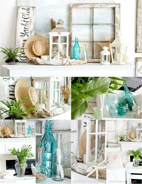 Decorating Ideas > 25+ Best Ideas About Beach Mantle On Pinterest  Summer  ~ 141146_Fireplace Mantel Decorating Ideas For Summer