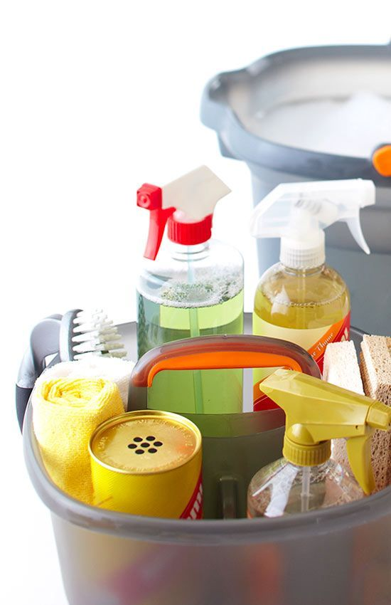 Keep everything you use to clean your home ready to go in one cleaning tote, caddy, or bucket. Find more cleaning tips and tricks here: http://www.bhg.com/homekeeping/house-cleaning/tips/speed-clean/?socsrc=bhgpin042015totecleaningsupplies&page=1