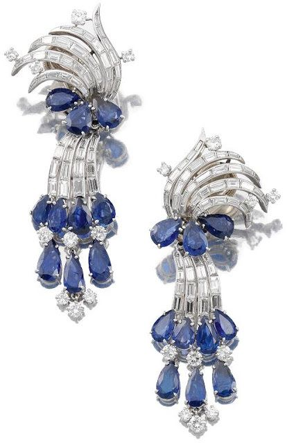 Glorious cool-colored earrings by Cartier. - Diamonds in the Library : Diamonds in the Library