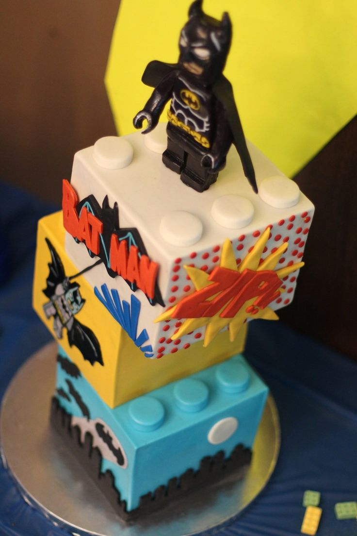 Lego Batman Cake Had a fun time making us Lego Batman cake for my son's seventh birthday. I really want to do vintage 1930s Batman...