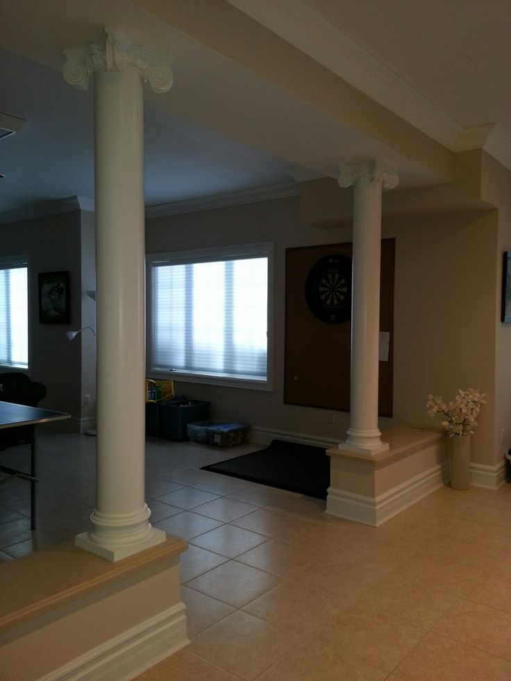 In years gone by round tapered columns were difficult and for Columns interior
