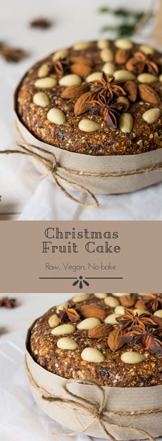 #raw #vegan Christmas Fruit Cake from Deviliciously Raw