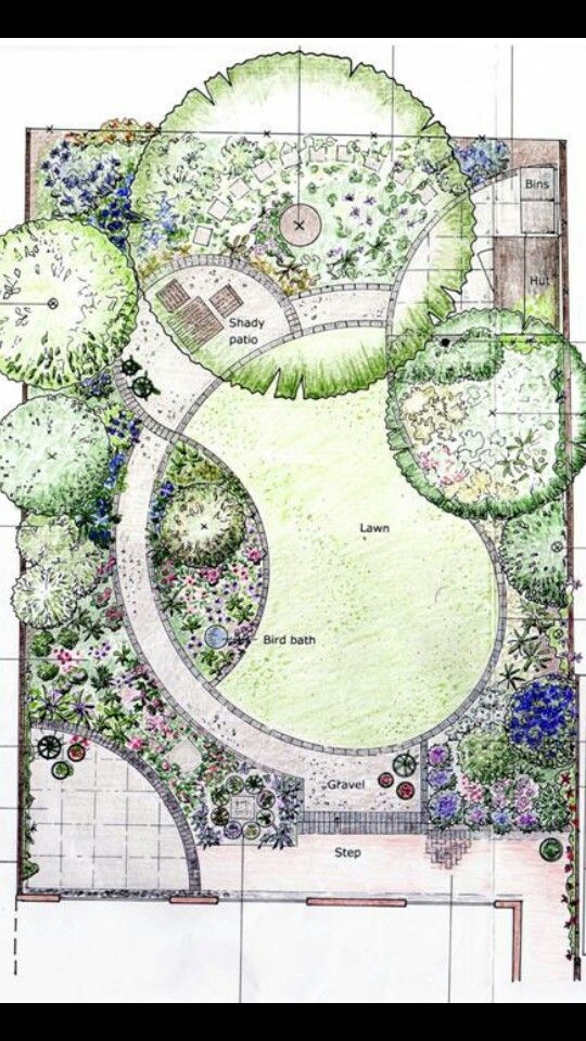 17 best images about croquis on pinterest gardens small for Landscape pre planned garden designs