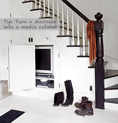 """Endless ideas for that """"below the stairs"""" space!"""