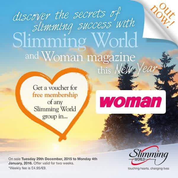 Fantastic free joining or rejoining voucher in this weeks Woman magazine for Slimming World at Da Vinci's