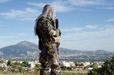 Photo: Sniper look around