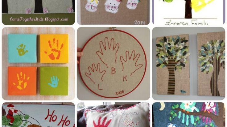 Ideias Giras para decorar com Impressões de Mãos