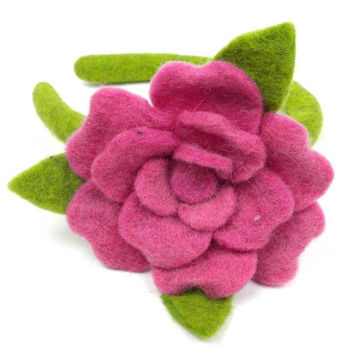Rose Headband Pink - Global Groove (C)