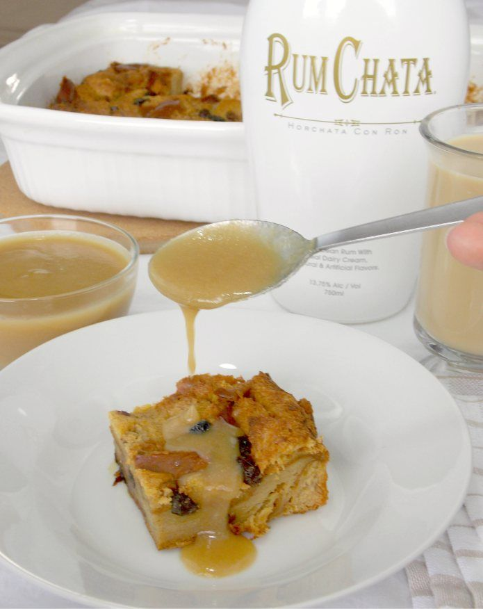 RumChata Bread Pudding - The Wholesome Dish