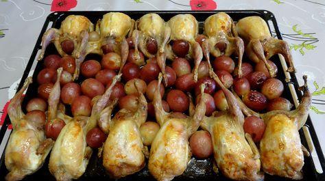 Je vous propose une recette de cuisine toute simple et très facile à faire. les grives ou cailles aux raisins cuites au four. grives ou cailles aux raisins ingrédients pour cuisiner les grives ou cailles aux raisins : 12 cailles ou grives 2 belles grappes...