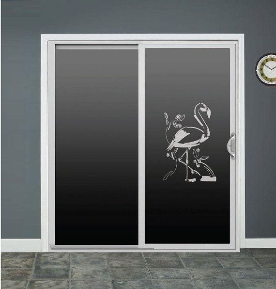 Flamingo Glass Door Decals Sliding Door Decal Door by RoomsByAngie