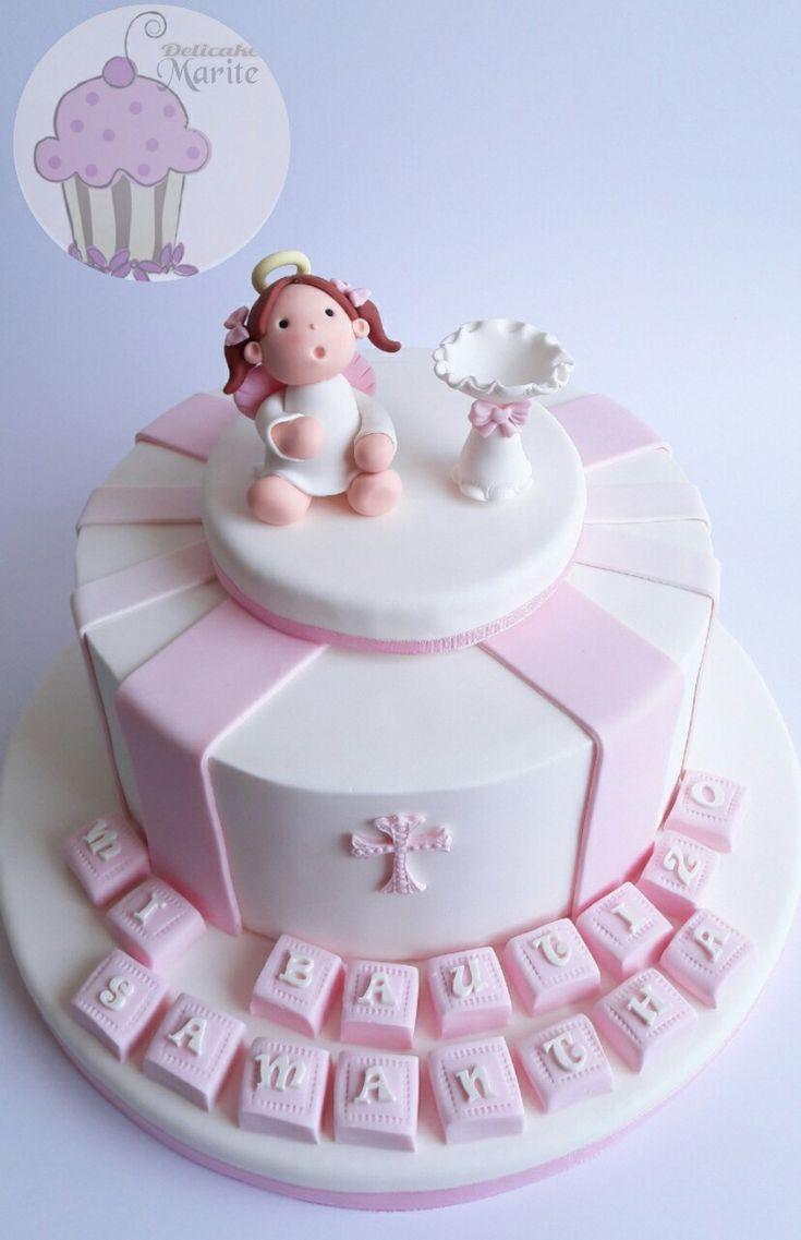 Las 25 mejores ideas sobre pastel bautizo ni a en for Decoracion de tortas para ninas