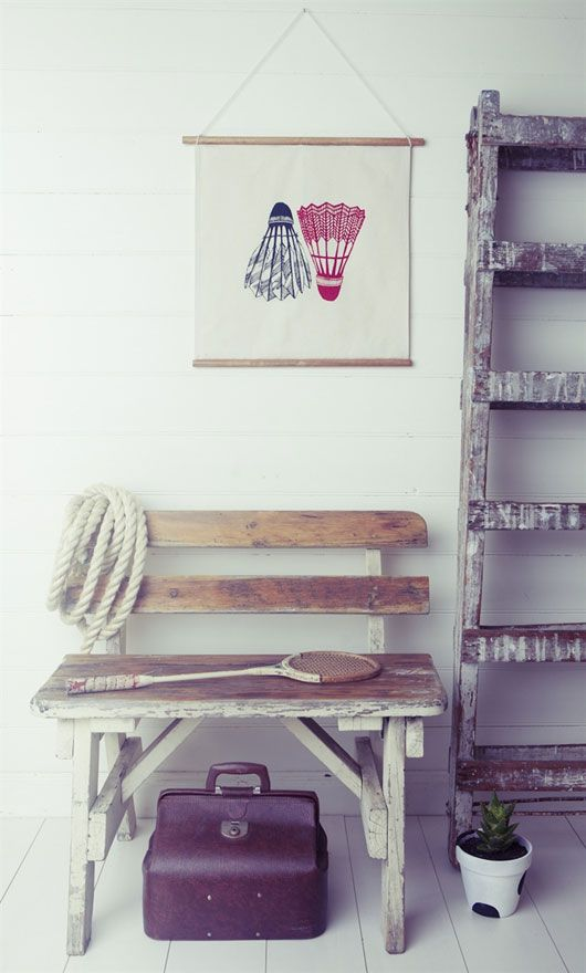 White Horse Home via @sfgirlbybay / victoria smith/shuttlecock print is awesome