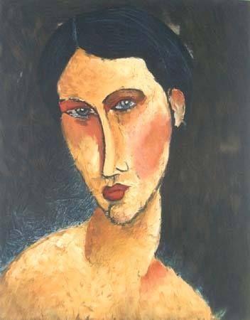 Amedeo Modigliani - Ragazza con gli occhi blu