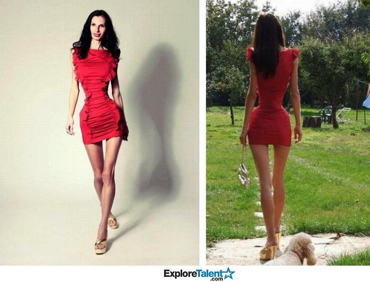 Romanian model, Ioana Spangenberg, weighs 84 pounds and has a 20 inch waist.