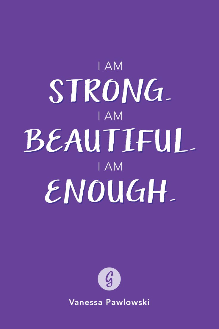 Say this to yourself every day. #healthy #confidence #bodyimage