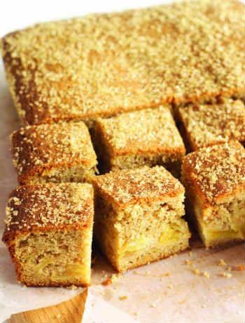 Apple and cinnamon tray bake - seasonal and comforting x