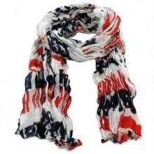 Écharpe imprimée drapeau américain