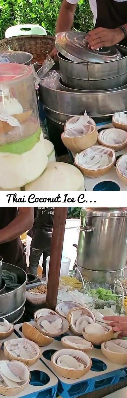 Thai Coconut Ice Cream - Thai Coconut Crepes - Thai Street Food... Tags: Thai Coconut Ice Cream - Thai Coconut Crepes - Thai Street Food, Hot Thai Kitchen, Pailin, Pai, Chongchitnant, Cooking, food, Thai food, Thai cuisine, Thailand, Thai cooking, recipes, demonstration, cooking show, educational, recipe, Coconut Milk (Beverage), coconut, coconut water, coconut ice cream, young coconut ice cream, Thai dessert, Thai ice cream, Dessert (Type Of Dish), Ice Cream (Dish), Ice Cream (Dish)