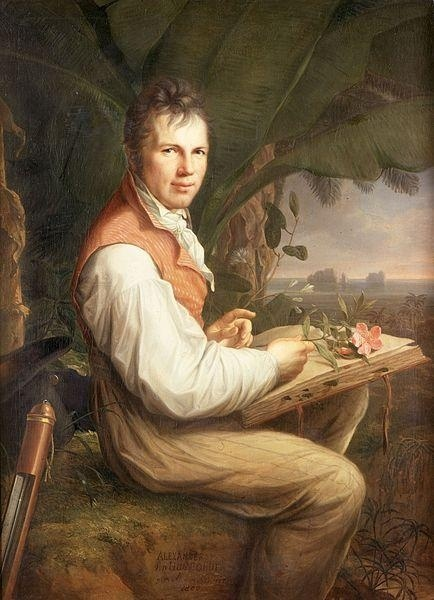 Alexander von Humboldt by Friedrich Georg Weitsch, 1806 - Alexander von Humboldt (1769-1859) was a Prussian geographer, naturalist & explorer. Humboldt's quantitative work on botanical geography laid the foundation for the field of biogeography. Between 1799 & 1804, he travelled extensively in Latin America, exploring & describing it for the first time in a manner generally considered to be a modern scientific point of view. By the early 1800s, Humboldt was one of the most famous men in…