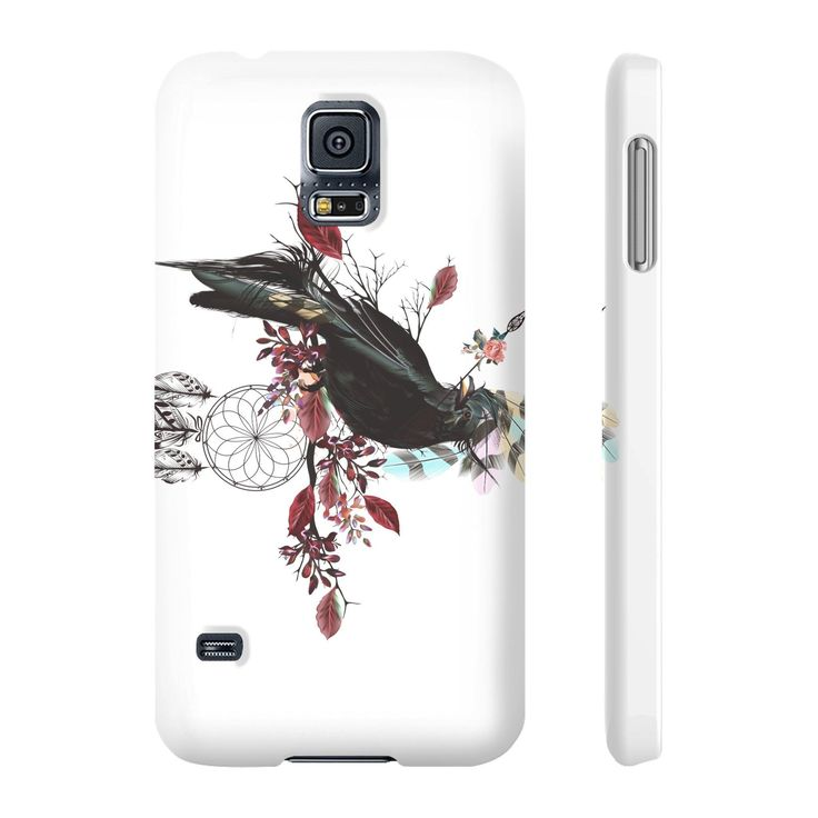 JadeCrate - Black Bird Fly - Slim Phone Case