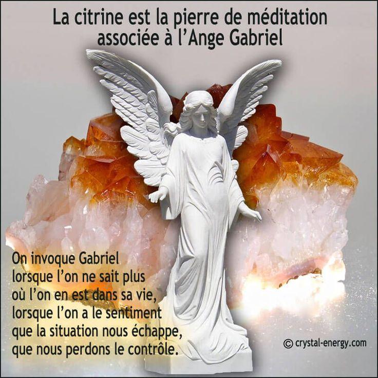 la citrine est la pierre de protection à utiliser pour invoquer l'ange Gabriel