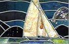 Art Deco time and styles in this great article. Stained glass with boat motif.