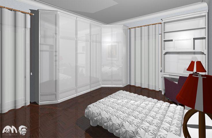 Il progetto di un armadio su misura per un appartamento di Roma