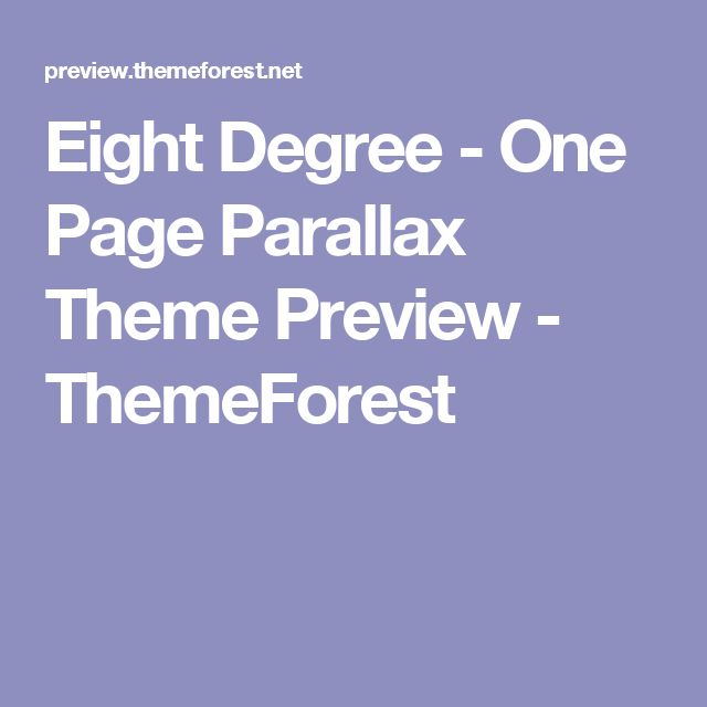 Eight Degree - One Page Parallax Theme Preview - ThemeForest