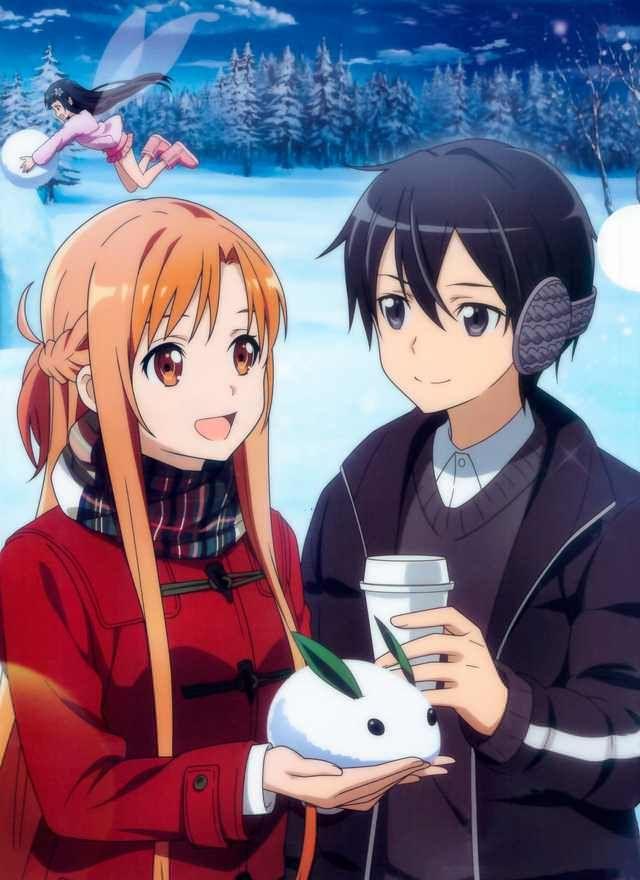 Sao Christmas Posters Sword Art Sword Art Online Asuna Sword Art Online Christmas anime wallpaper sao