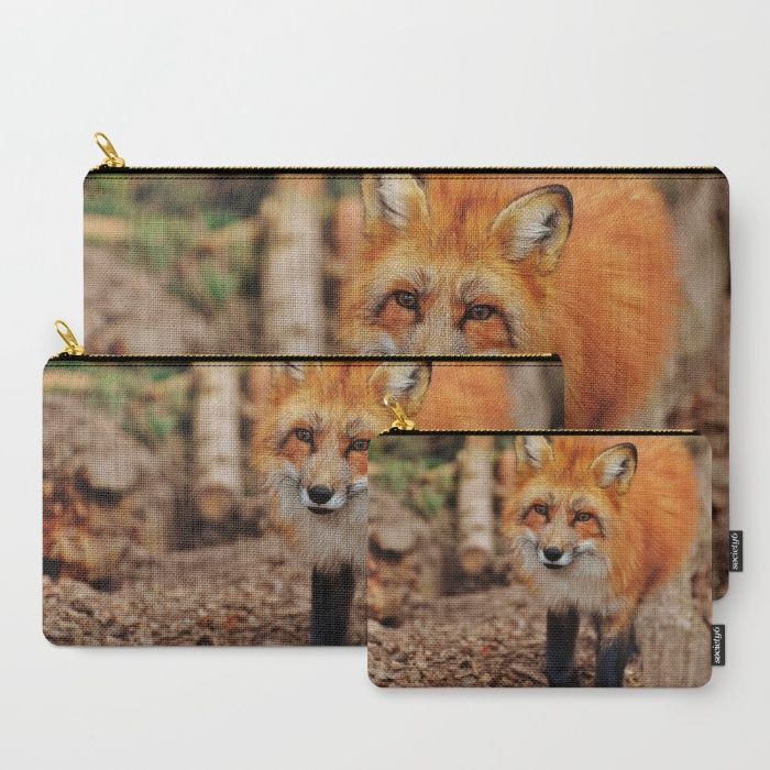 Fox Carry-All Pouch by Mixed Imagery   Society6