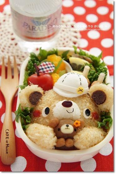 Baseball bear w/ teddy bento♡
