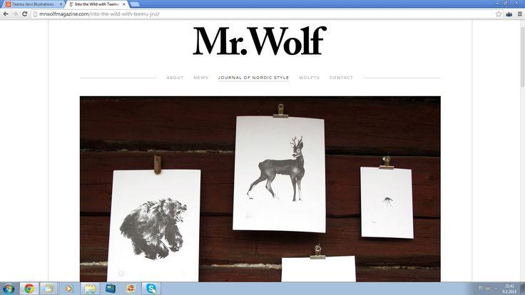 Mr.Wolf magazine interview Into the Wild with Teemu Järvi http://mrwolfmagazine.com/into-the-wild-with-teemu-jrvi/