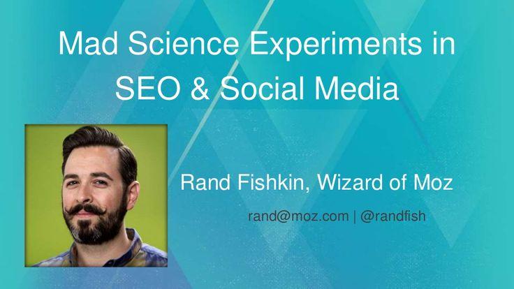 #Social #SEO: Mad Science Experiments in SEO & Social Media by Rand Fishkin via slideshare. Interesting....