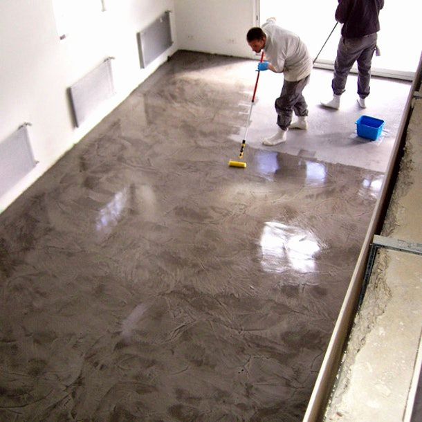 Carrelage Imitation Carreaux De Ciment Point P Polished Concrete Concrete Staircase Flooring