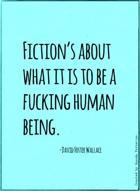 A great quote by Wallace, or the greatest quote ever?