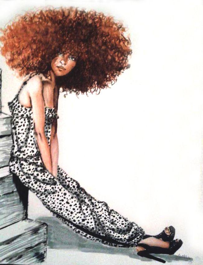 babbfdffddada  fashion illustration hair illustration art