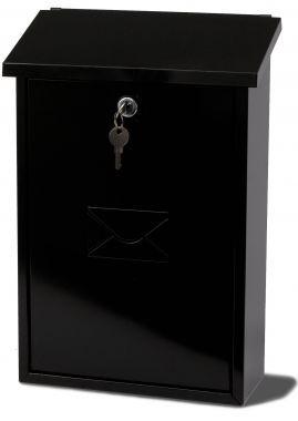 Rhondda Black Steel Post Box