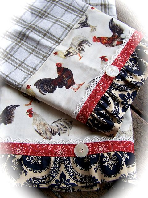 Chicken towels for the kitchen. by Decorative Towels - Created by Cath., via Flickr