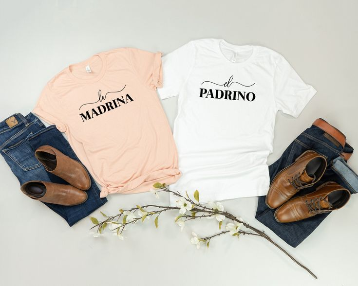 madrina shirt, padrino shirt, godmother gift, godfather