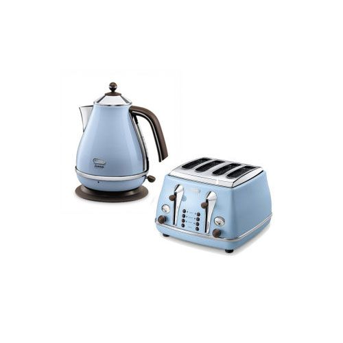 Delonghi Icona Vintage 4 Slice Toaster And Kettle Bundle Duck Egg Blue, Two  High Quality U0026 Stylish Accessories That Are Suitable For Any Pastel Kitchen.