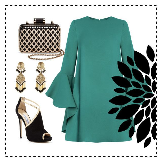 Black emerald by tanya-dayal on Polyvore featuring polyvore fashion style Jimmy Choo Tevolio Etro clothing