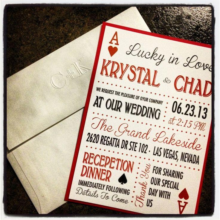 the 25+ best vegas wedding invitations ideas on pinterest | vegas, Wedding invitations