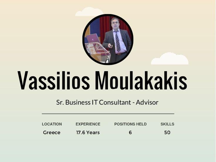 Professional Journey - Vassilios Moulakakis by Vassilios Moulakakis via slideshare