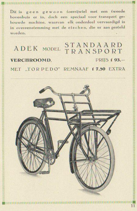 Adek in de jaren '30 | transportfiets.net