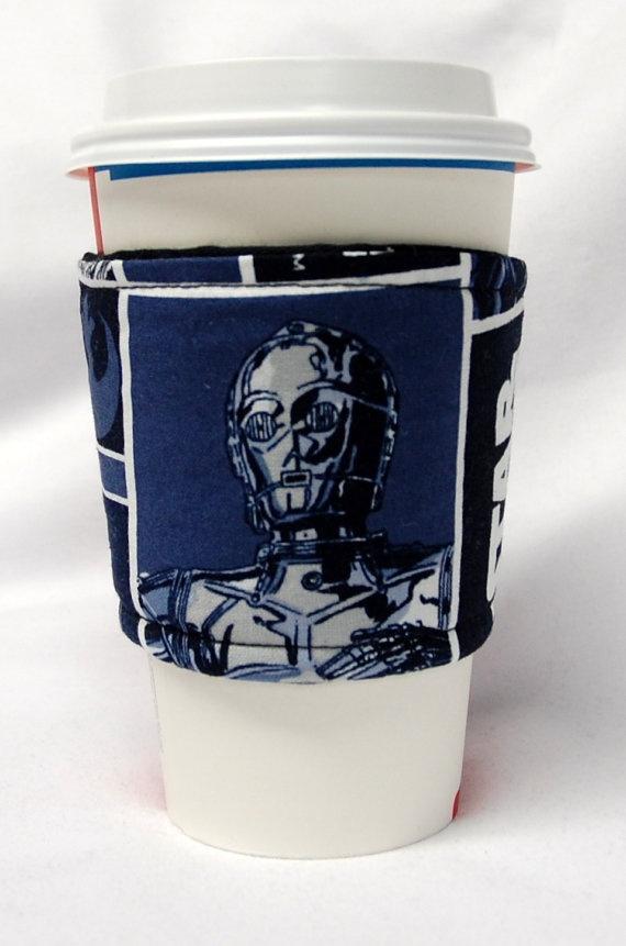 Teacher Appreciation Coffee CozyCup Sleeve Bulk Discount: Tinkerbell on Purple Co-Worker Gift Slip-on Eco Friendly