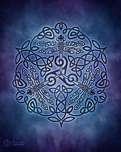Keltische libellen Triskele Knotwork heidense door BrightArrow