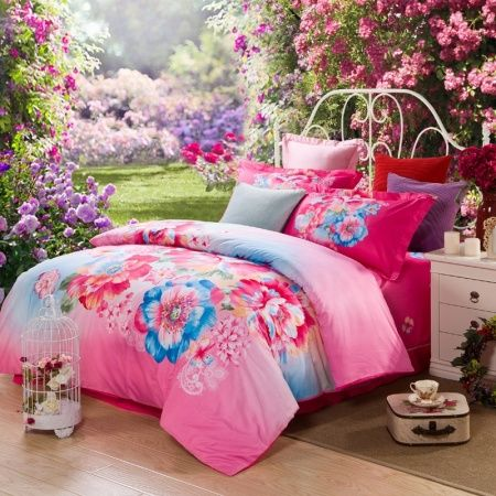 79 curated b e d d i n g ideas by gabbymartinez20 flower - Hot pink and blue bedding ...
