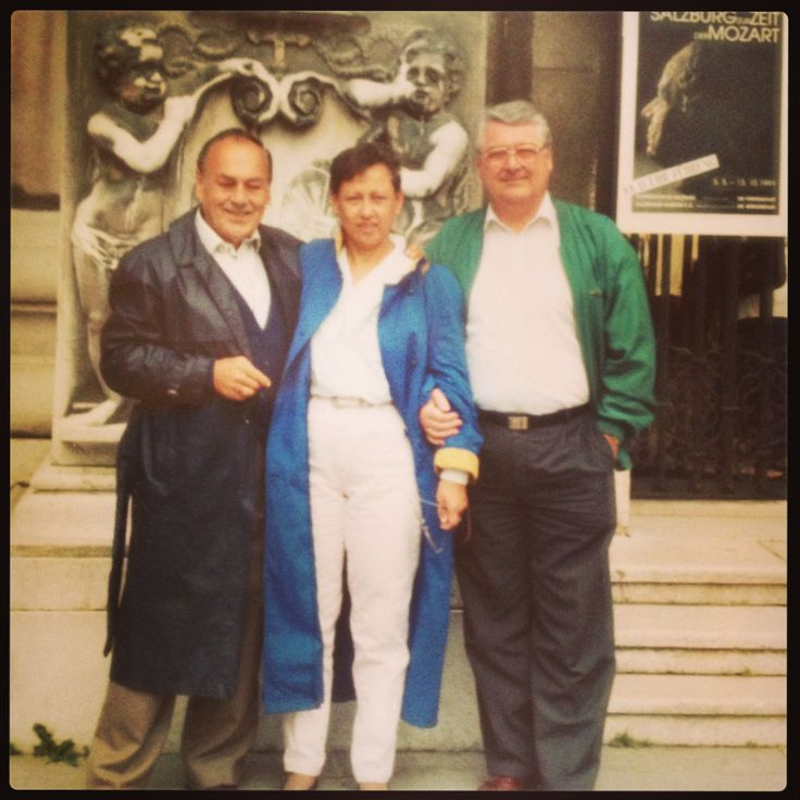Dad,Mom,& Uncle Adolf Austria in front of The Mozart Museum
